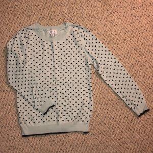 Mint Green/Light Blue Heart Sweater